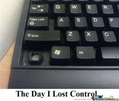 The Day I Lost Control......
