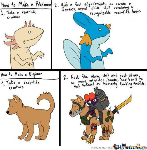 The Difference Between Pokemon And Digimon (Not Mine)