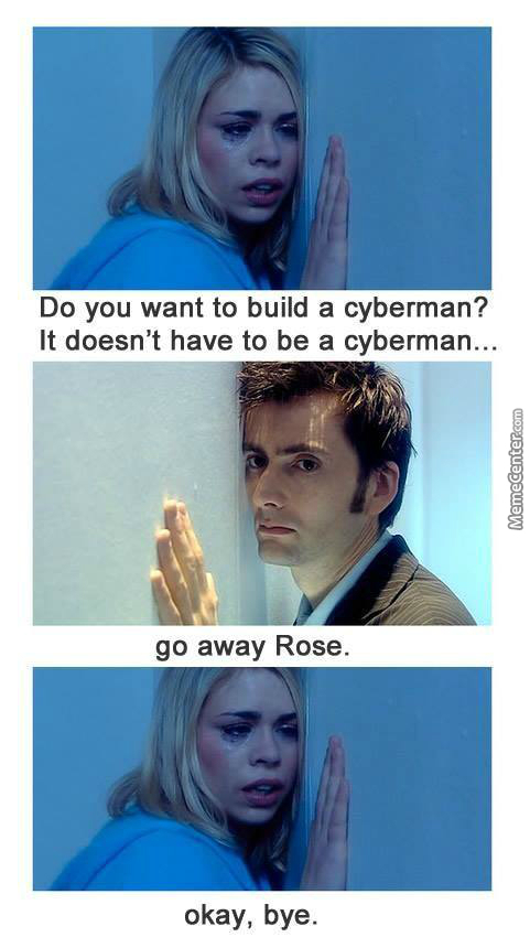 The Doctor Is Tired Of Your Shit, Rose Tyler.
