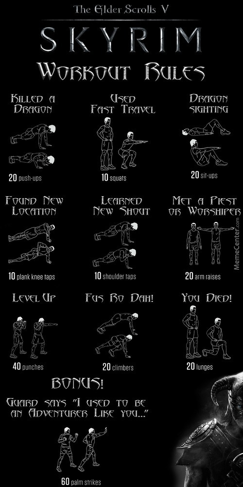 The Dovahkiin Workout