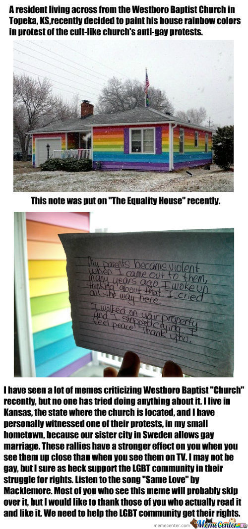 The Equality House Across The Street From Westboro