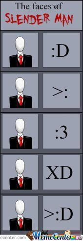 The Faces Of Slender Man