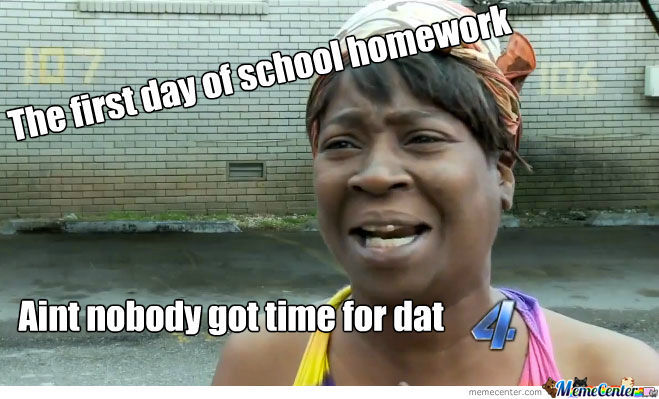 The First Day Of School Homework