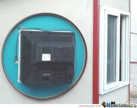 The Ghetto Flat Screen..