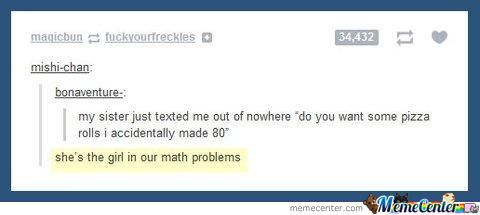 The Girl In Math Problems