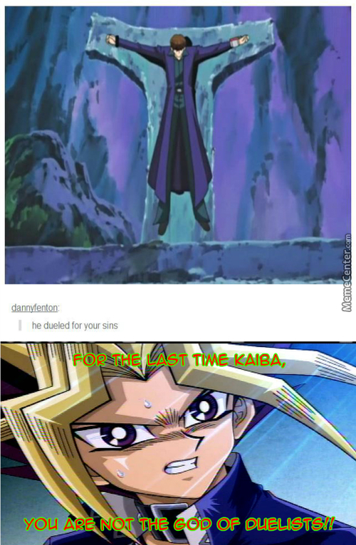 The God Of Duelists.....not!  (Anime: Yu-Gi-Oh!)