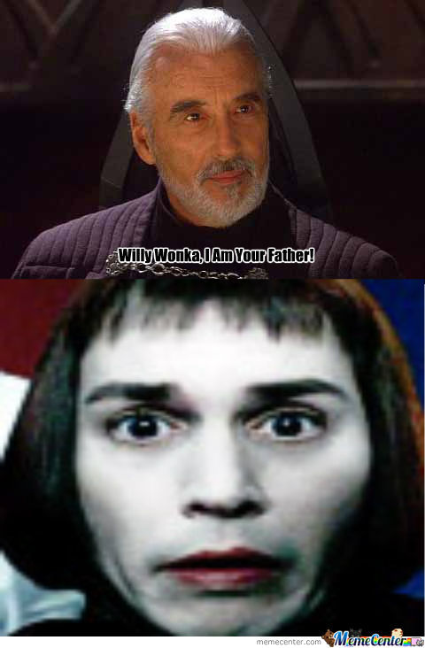 The Guy That Plays Count Dooku Plays Willy Wonka Dad