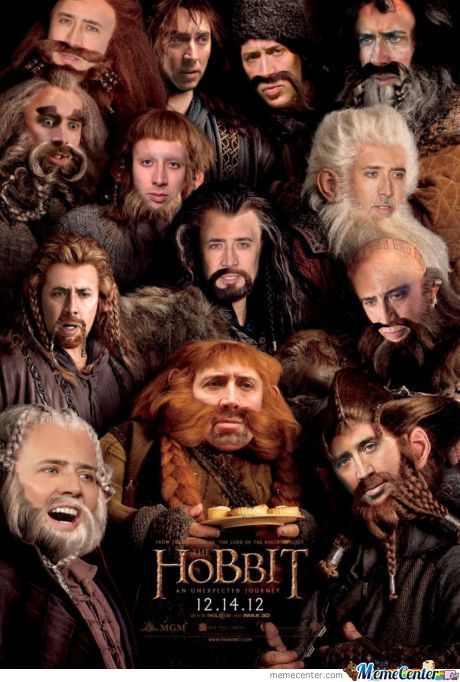 The Hobbit Starring Nicolas Cage
