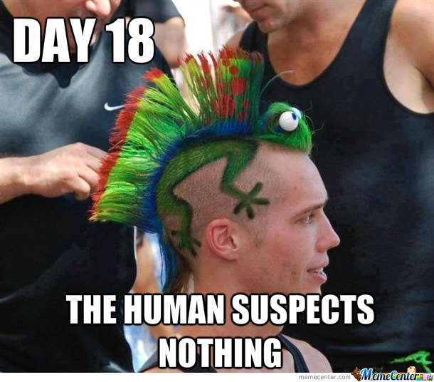 The Human Suspects Nothing