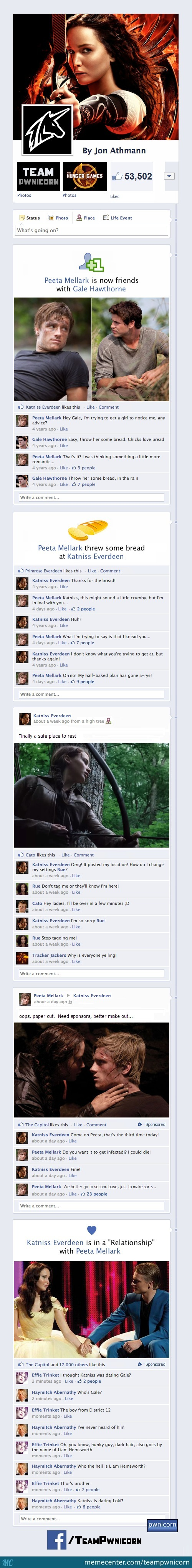 The Hunger Games On Facebook