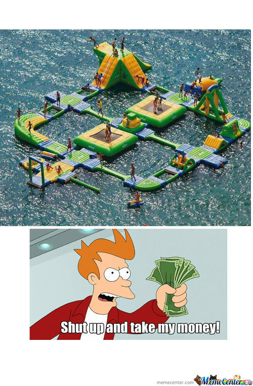 The Inflatable Water Park. Me Wantie.