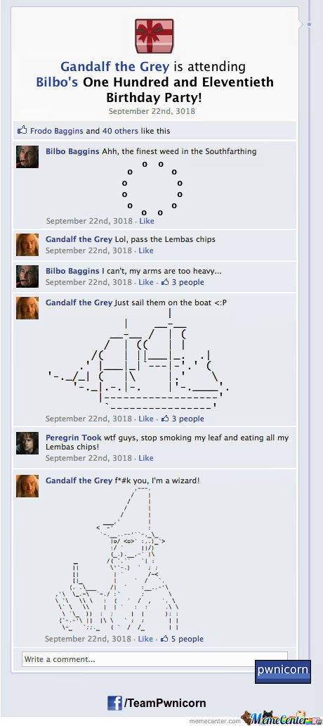 The Lord Of The Rings On Facebook Part 1