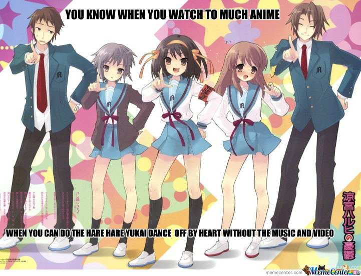 The Melancholy Of Haruhi Suzumiya You Know When You Too Much Anime