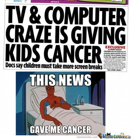 TV & Computer Craze Giving Cancer