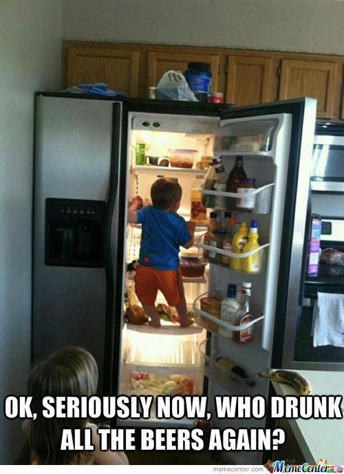 The Moment That Your Fridge Is...empty.