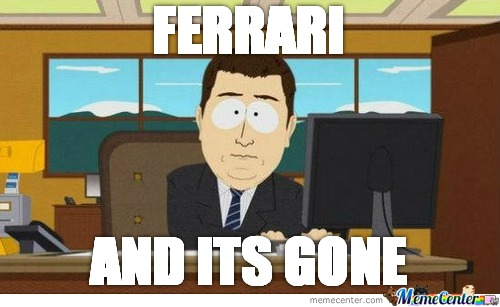 The Moment You See A Ferrari...