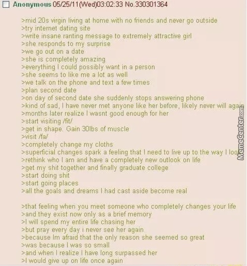 The Most Motivational Green Text Story I Have Ever Read.