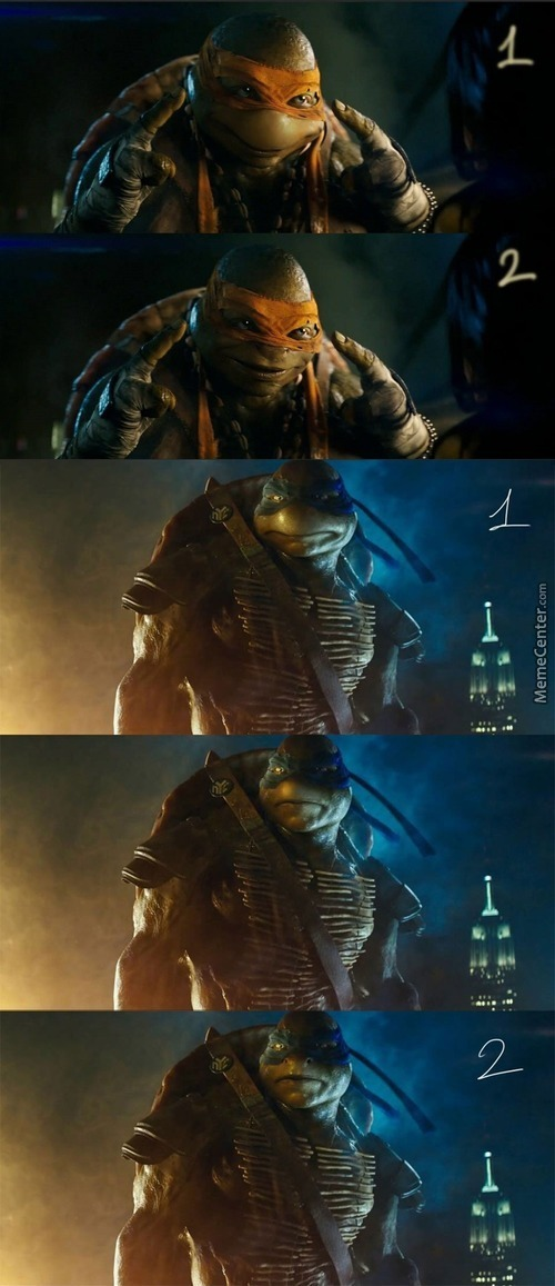 The New Tmnt Movie Top Is Improved Fan Version, Bottom Is Creepy Michael Bay Version