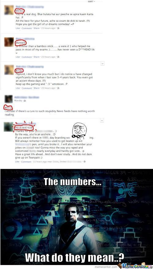The Numbers...what Do They Mean?