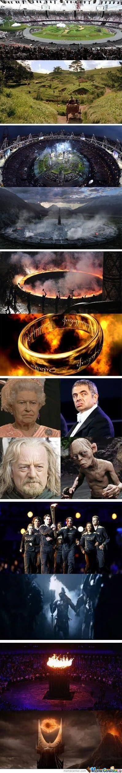The Olympic Opening Was Lord Of The Rings!