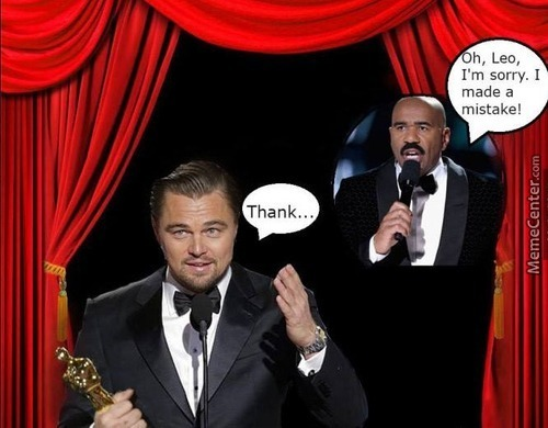 The Only Way Leonardo Dicaprio Can Get An Oscar... Even Tho It's For A Short Time.