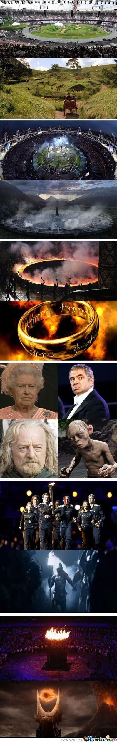The Opening Ceremony Was The Lord Of The Rings
