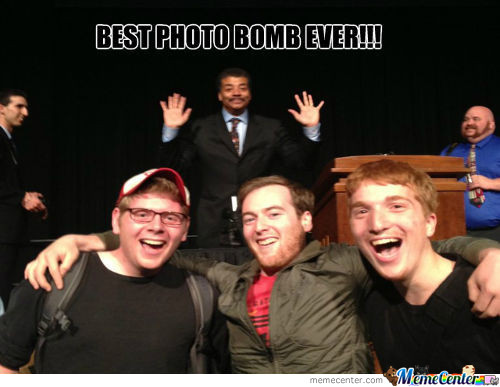 Neil deGrasse Tyson Photo Bomb