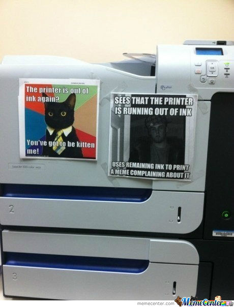 The Printer Is Running Low On Ink