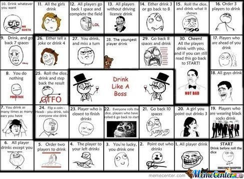 The Rage Face Drinking Game !