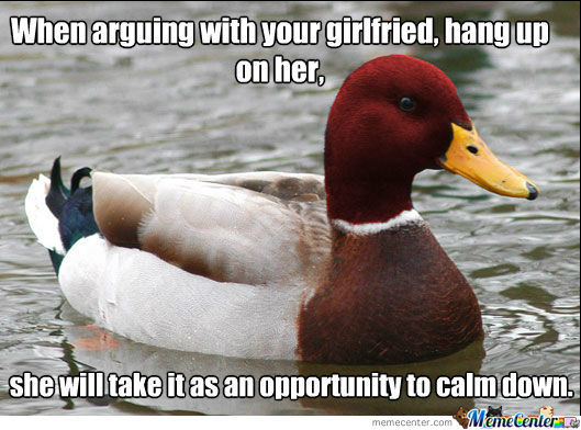 Arguing with girlfriend