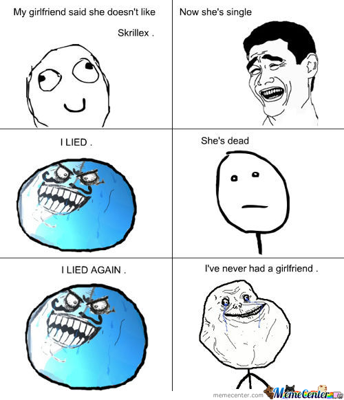 Sad Alone Memes: I Lied Forever Alone Derp Memes. Best Collection Of Funny