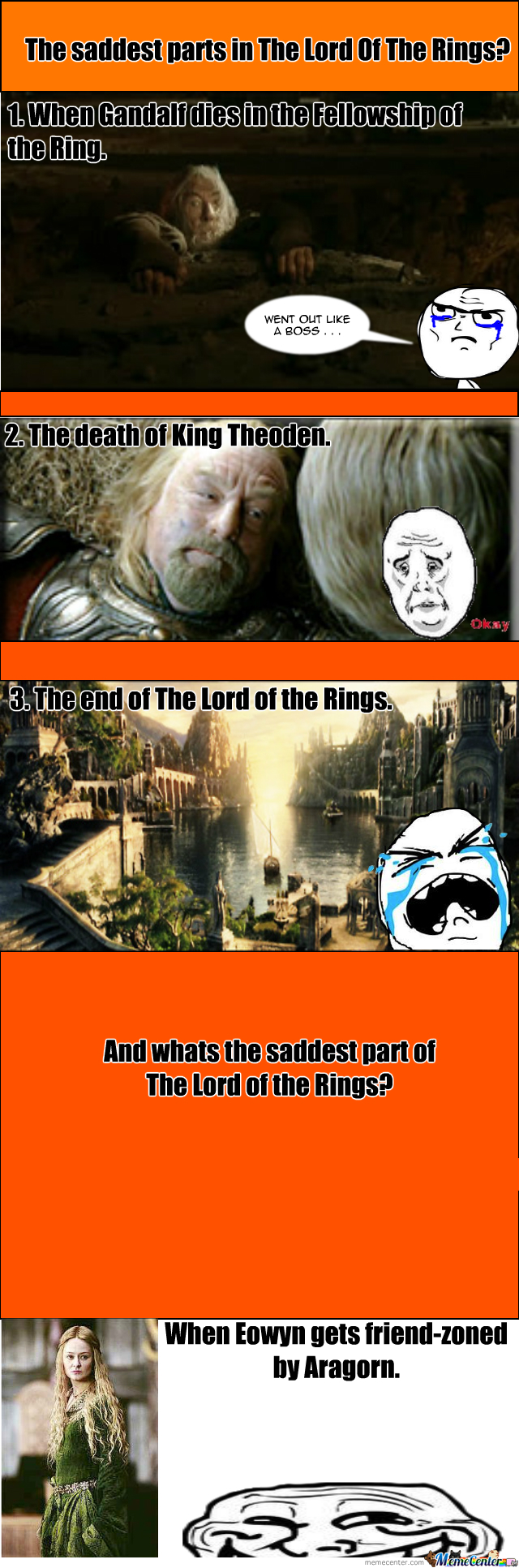 The Saddest Parts In Lotr