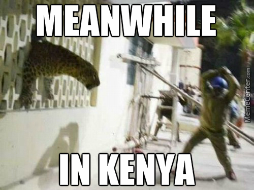 The Shit Kenyans Have To Go Through