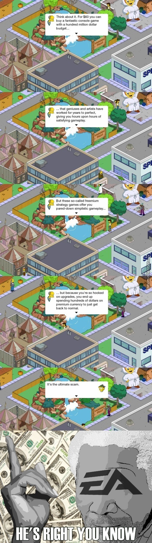 The Simpsons: Tapped Out Shedding Some Truth