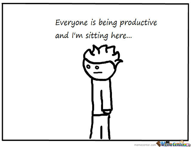 The Usual Anti-Productive Me