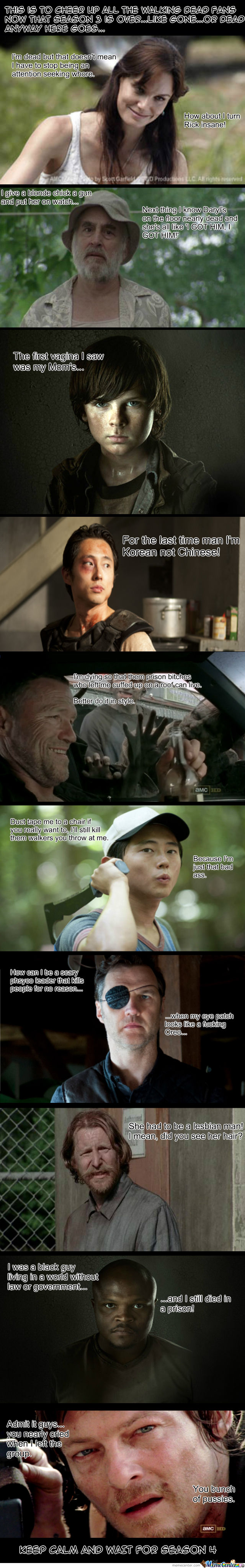 The Walking Dead. *beware Kind Of Long Meme Ahead*