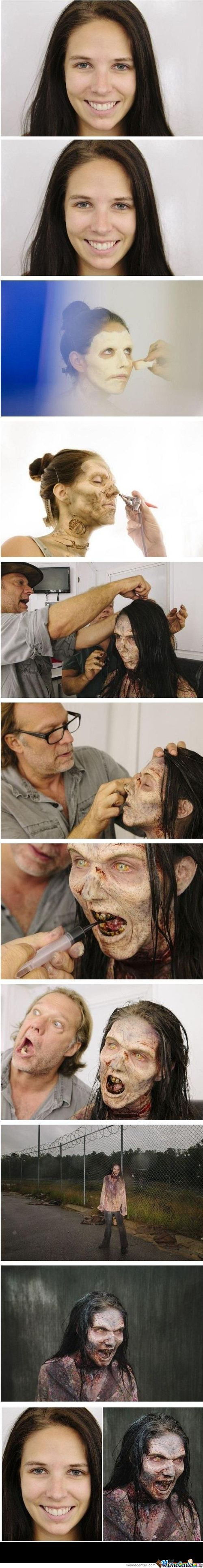 The Walking Dead Makeup
