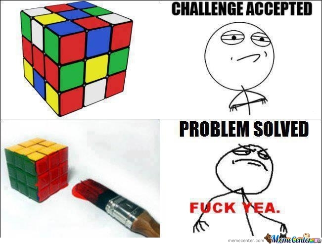 The World's Problem Solved.