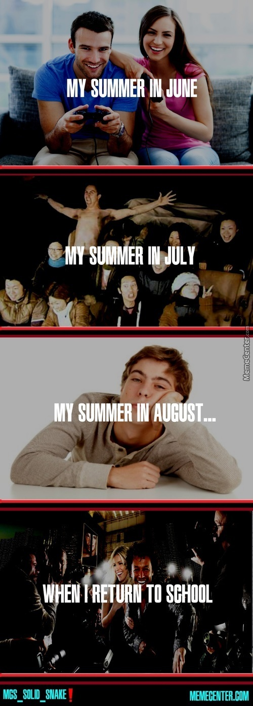 There Will Be A Day When I'm Bored Of Summer And Want To Go To School, And Today Is Not That Day
