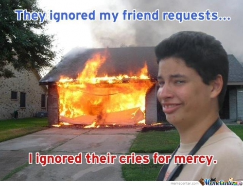 they ignored my friend request