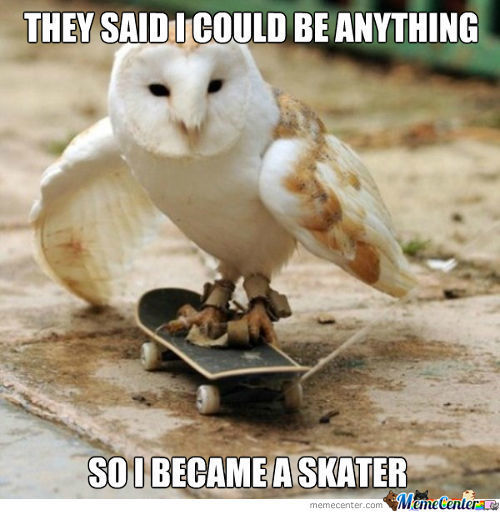 They Said I Cold Be Anything So I Became A Skater