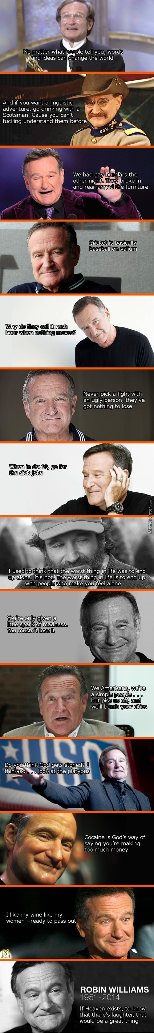 Things Celebrities Say... Special - In Honor Of Robin Williams