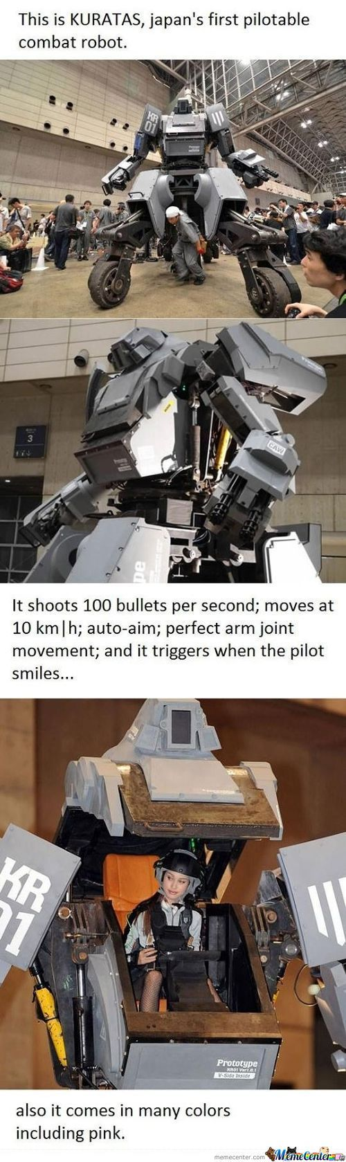 This Is Kuratas, Japans First Pilotable Combat Robot