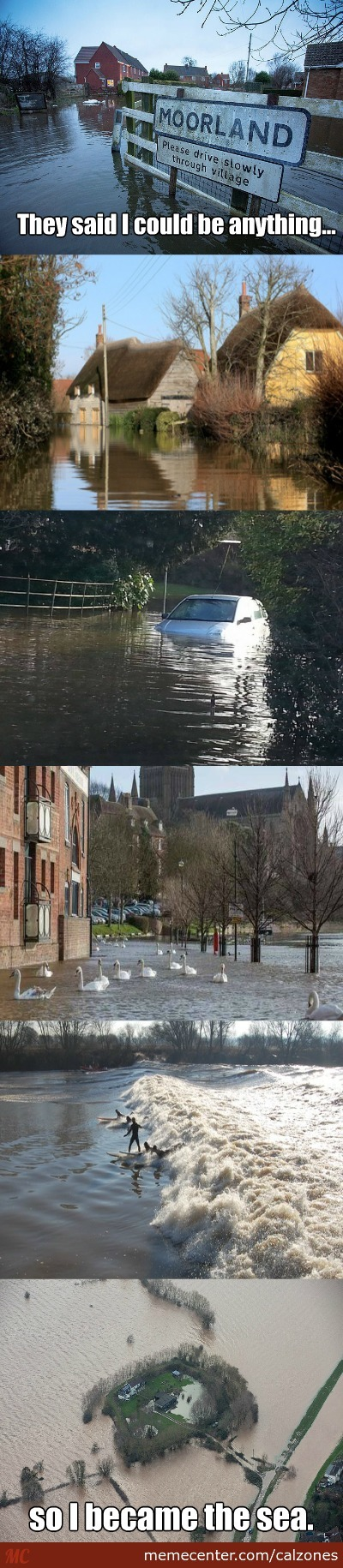This Is Somerset, England, As It Currently Floats