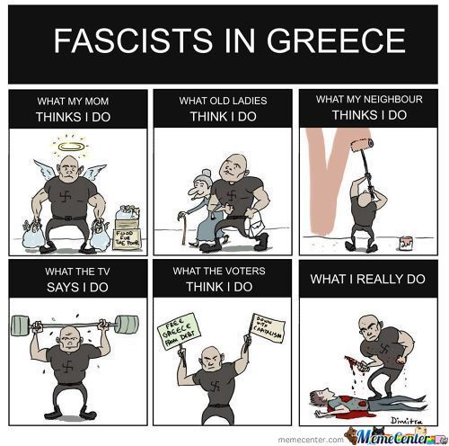 "This Is The ""legal"" Neo-Nazi Political Party In Greece . They Are Murderers ."