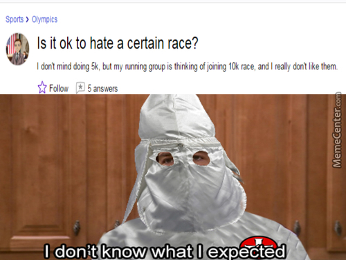 This Kind Of Race Is Disgusting Really