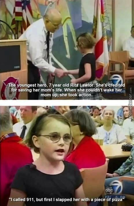 This Little Girl Is My Hero