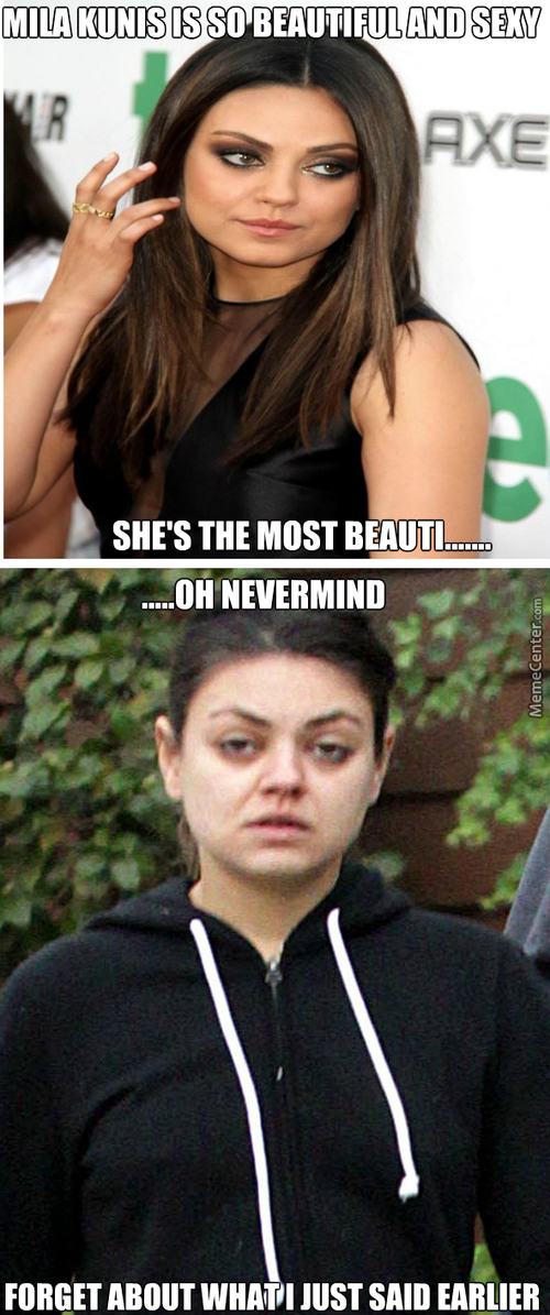 This Proves That Most Celebreties Are Beautiful Because Of Make Ups