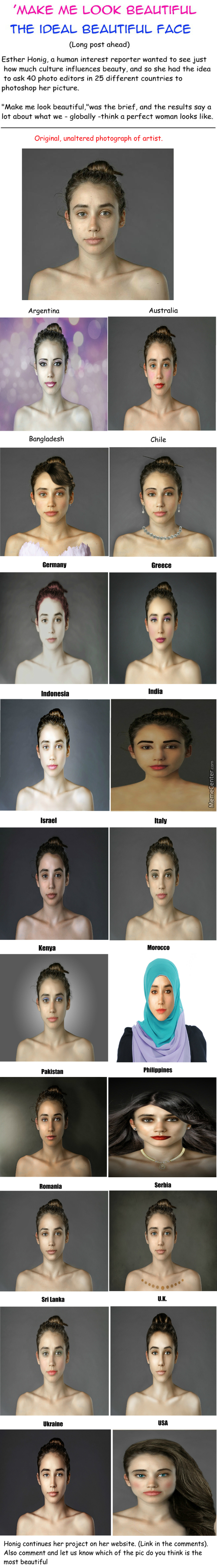This Woman Had Her Face Photoshopped In Over 25 Countries To Examine Global Beauty Standards