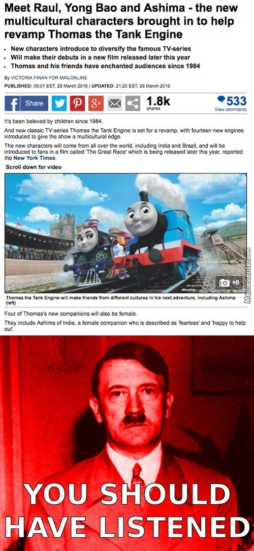 Thomas Girlfriend Left Him For A Coal Train